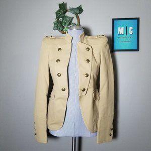NWOT Zara Woman Military Style Khaki Fitted Blazer